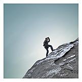 Man, Watching, Uphill