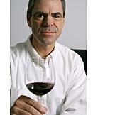 Man, Indulgence & Consumption, Wine Glass