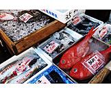 Fish, Asia, Fish market