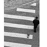Pedestrian, Crosswalk