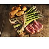 Asparagus, Potato, Ham