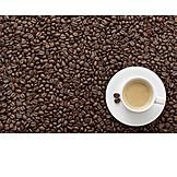 Coffee, Coffee cup, Coffee bean
