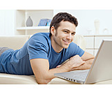 Young Man, Domestic Life, Leisure & Entertainment, Laptop