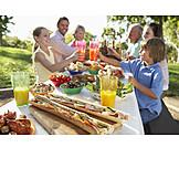 Picknick, Gartenfest, Familienfest, Familienausflug
