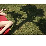 Young woman, Woman, Enjoyment & relaxation, Summer, Sunbathing