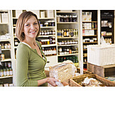Purchase & shopping, Bread, Customer, Grocery store