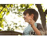 Boy, Playing, Bubble wand