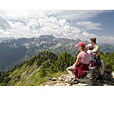 Family, View, Hiking, Hiking vacation