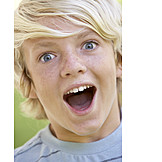 Boy, Child, Enthusiastic, Surprised, Astonished