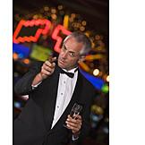 Man, Indulgence & Consumption, Champagne Glass, Cigar