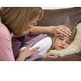 Mutter, Pflege & Fürsorge, Krank, Tochter