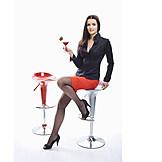 Young Woman, Elegant, Indulgence & Consumption