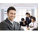 Man, Businessman, Meeting & Conversation
