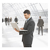 Mobile communication, Laptop, Businessman, Wlan