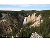Waterfall, Yellowstone river, Yellowstone national park
