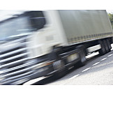 Blurred motion, Truck, Freight