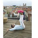 Father, Daughter, Gymnastics
