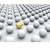 Individuality & Uniqueness, Sphere, Gold Ball