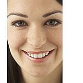 Young Woman, Face, Close Up