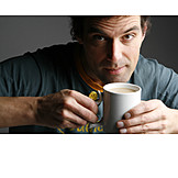 Man, Coffee, Coffee time