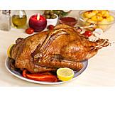 Christmas goose, Christmas dinner, Roast goose