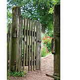 Open, Garden gate