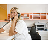 On the phone, Dental assistant, Appointments