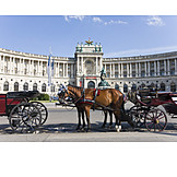 Horse Carriage, Fiaker, Vienna Hofburg