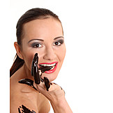 Young Woman, Indulgence & Consumption, Chocolate, Sensual