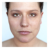 Young Woman, Woman, Natural, Face, Unvarnished, Portrait, Closeup