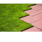 Lawn, Stone plate, Paving slab
