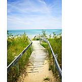 Lake huron, Wooden track, Beach access