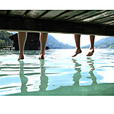 Enjoyment & relaxation, Refreshment, Summer, Barefoot
