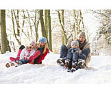 Fun & Happiness, Sledding, Family