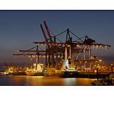 Logistics, Container ship, Cargo port