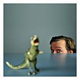 Hiding, Head, Dinosaur