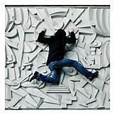 Climbing, Parkour, Wall relief