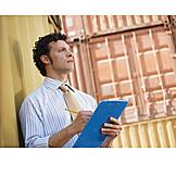 Businessman, Logistics, Writing