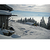 Winter landscape, Ski resort, Alp, Lenggries
