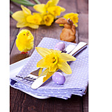 Easter, Table Decoration, Easter Cutlery