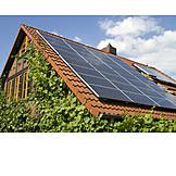 House, Solar cell, Solar roof
