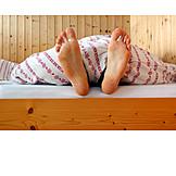 Bed, Foot, Duvet