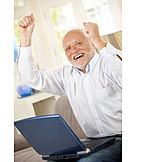 Senior, Enthusiastic, Cheering