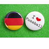 Enthusiastic, Button, Soccer Fan, German Fans
