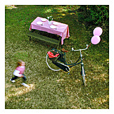 Garden, Picnic, Dutch bike
