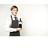 Wine bottle, Present, Sommelier