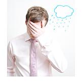Niedergeschlagen, Stress & Belastung, Regenwolke