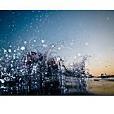 Water surface, Splash, Water splashes