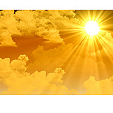 Sky, Sun, Sunbeam, Sunshine
