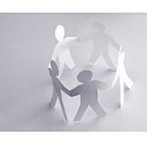 Teamwork, Silhouette, Community